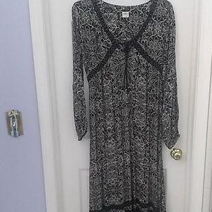 O'Neill Boho Maxi Black & White Dress L
